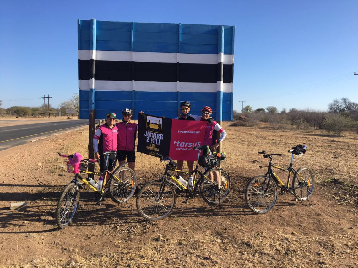 First 3 days riding in Botswana; A few aches and pains and our first set of punctures