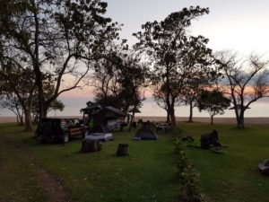 View of our campsite at Ngala Beach Lodge