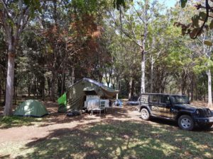 Our campsite at Mama-Rula's in Chipata
