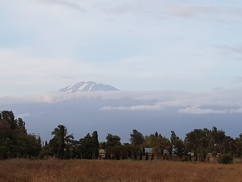 View of Mount Kilimanjaro once the clouds cleared for us in the afternoon